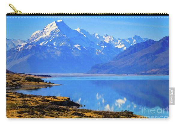 Mount Cook Overlooking Lake Pukaki,  New Zealand Carry-all Pouch