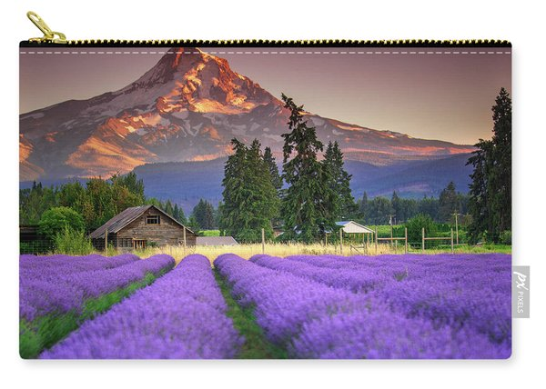 Mount Hood Lavender Field  Carry-all Pouch