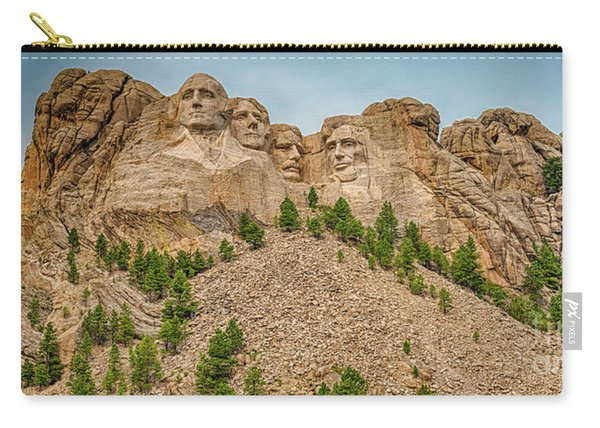 Carry-all Pouch featuring the photograph Mount Rushmore by Dheeraj Mutha