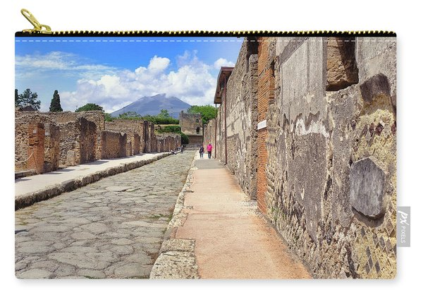 Mount Vesuvius And The Ruins Of Pompeii Italy Carry-all Pouch
