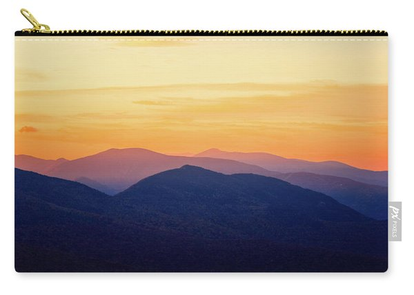 Carry-all Pouch featuring the photograph Mountain Light And Silhouette  by Jeff Sinon