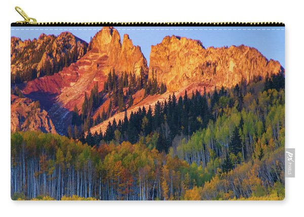 Carry-all Pouch featuring the photograph Mountain Light by John De Bord