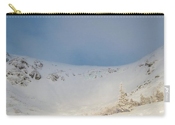 Carry-all Pouch featuring the photograph Mountain Light, Tuckerman Ravine by Jeff Sinon