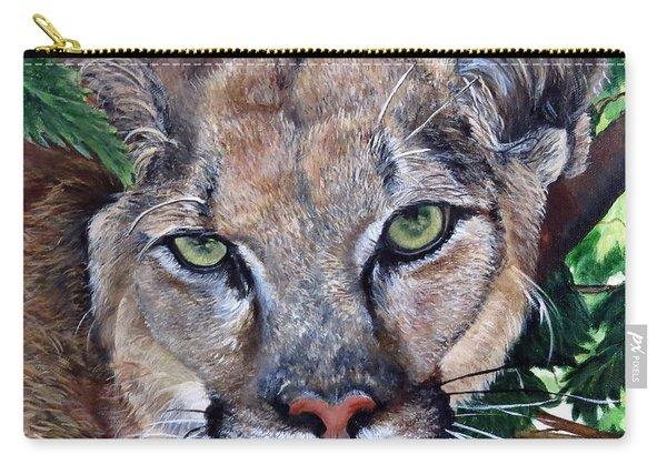 Mountain Lion Portrait Carry-all Pouch