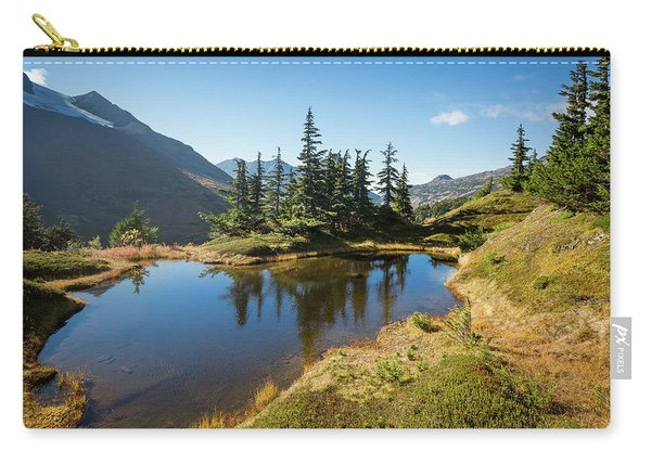 Carry-all Pouch featuring the photograph Mountain Pond by Tim Newton