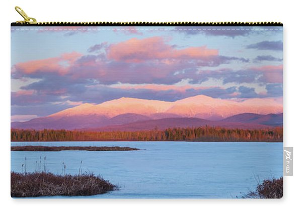 Carry-all Pouch featuring the photograph Mountain Views Over Cherry Pond by Jeff Sinon