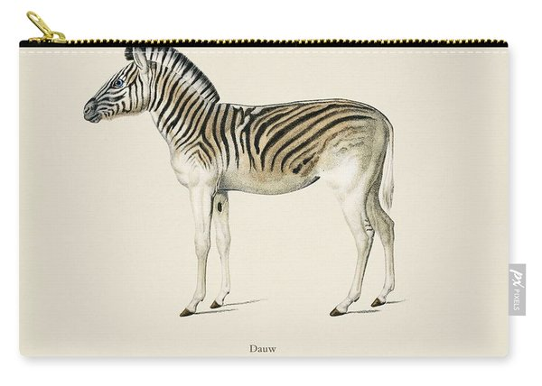 Mountain Zebra  Dauw  Illustrated By Charles Dessalines D' Orbigny  1806-1876 2 Carry-all Pouch
