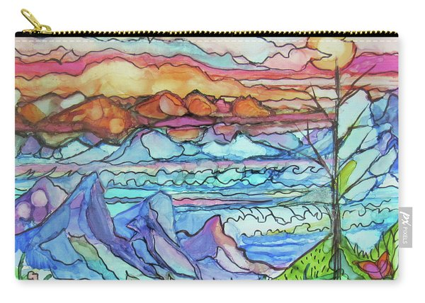 Mountains And Sea Carry-all Pouch