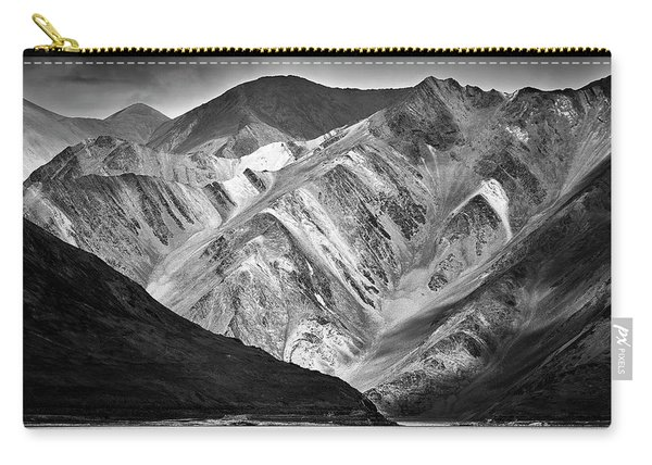 Carry-all Pouch featuring the photograph Mountains At Pangong by Whitney Goodey