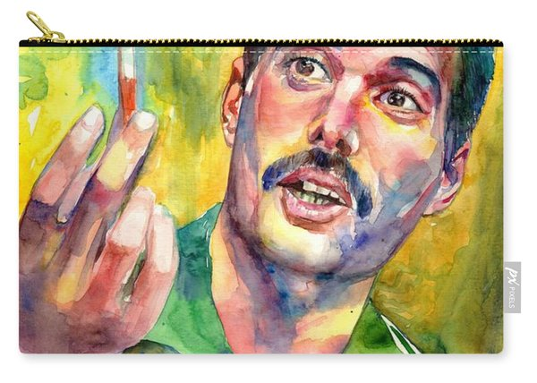 Mr Bad Guy - Freddie Mercury Portrait Carry-all Pouch