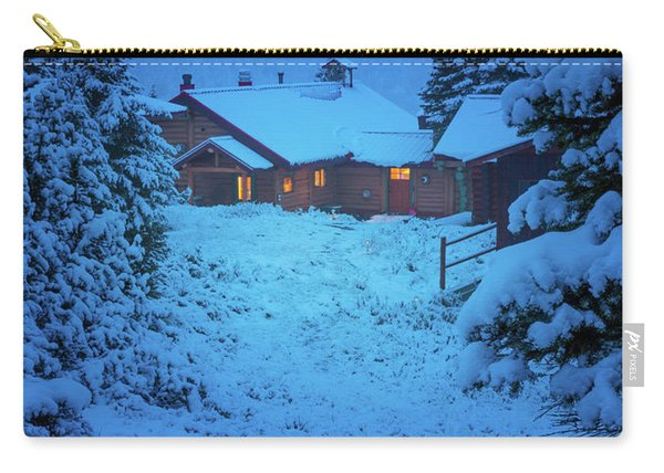Mt Assiniboine Lodge At  Night Carry-all Pouch