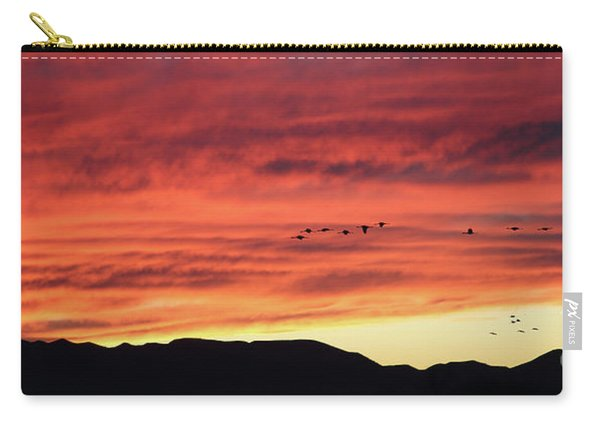 Carry-all Pouch featuring the photograph Mule Mountains Sunset by Jean Clark