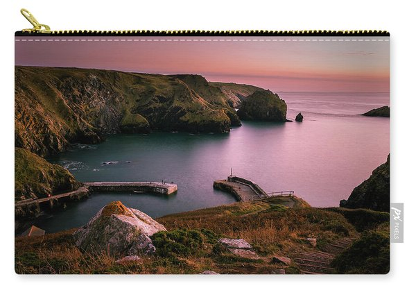 Mullion Cove Sunset - Cornwall General View Carry-all Pouch