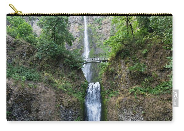 Multnomah Falls In The Columbia River Gorge In Oregon Dsc6514-2 Carry-all Pouch
