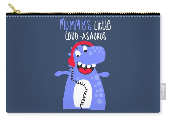 Mummy's Little Loud-asaurus - Baby Room Nursery Art Poster Print Carry-all Pouch