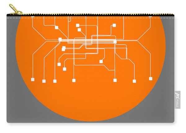 Munich Orange Subway Map Carry-all Pouch