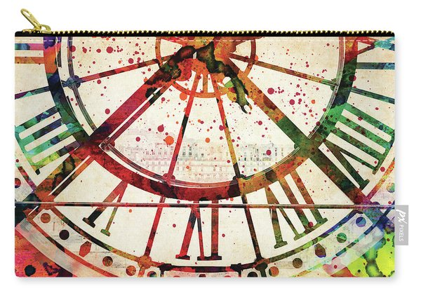 Musee D'orsay Clock Colorful Watercolor Carry-all Pouch