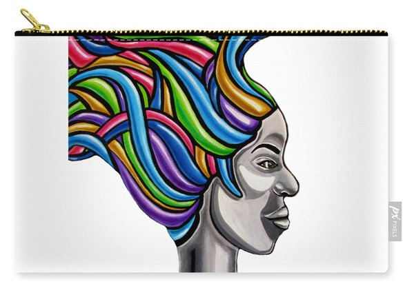 Abstract Face Painting Black Woman Art African Goddess Art Medusa Ai P. Nilson Carry-all Pouch