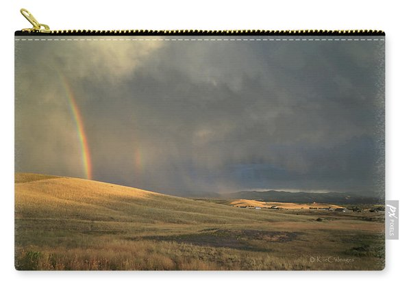 My Sky View #5 Rainbows And Clouds Carry-all Pouch