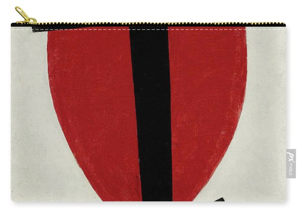 Mystic Suprematism - Black Cross On Red Oval, 1920-1922 Carry-all Pouch