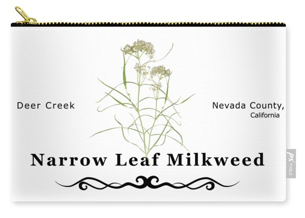 Narrow Leaf Milkweed Carry-all Pouch