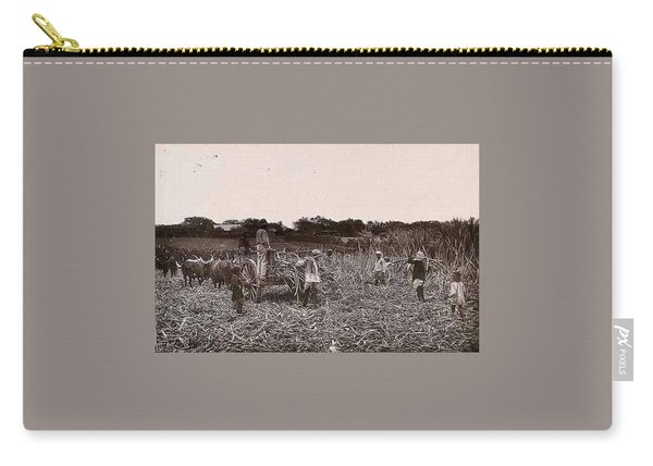 Natal, South Africa  Workers Cutting Sugar Cane On A Plantation. Woodburytype, 1888, After A Photogr Carry-all Pouch