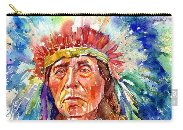 Native American Chief Carry-all Pouch