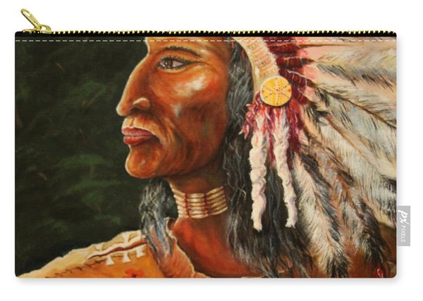 Native American Indian Chief Carry-all Pouch