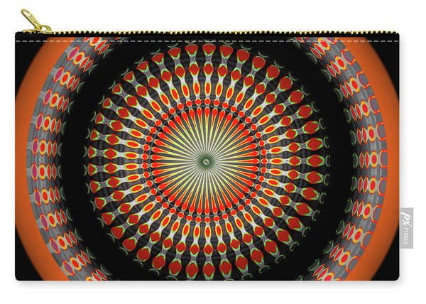 Carry-all Pouch featuring the digital art Native American Sun Two by Visual Artist Frank Bonilla