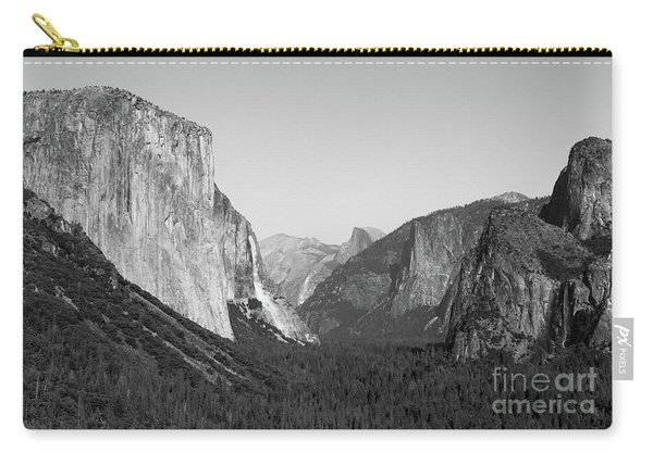 Carry-all Pouch featuring the photograph Nature At Its Best - Black-white by Dheeraj Mutha