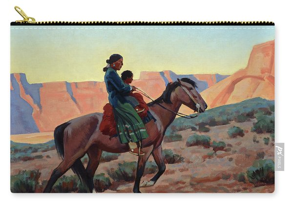 Navajo Mother, 1945 Carry-all Pouch