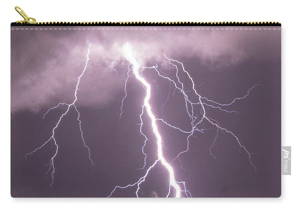 Carry-all Pouch featuring the photograph Nebraska Arcus And Lightning 046 by NebraskaSC