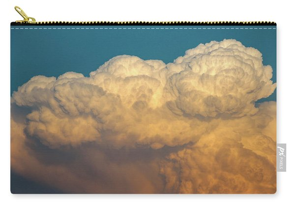 Carry-all Pouch featuring the photograph Nebraska Sunset Thunderheads 053 by NebraskaSC