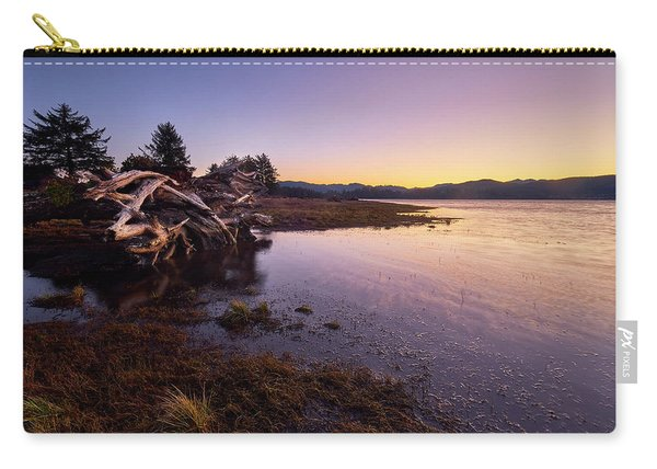 Carry-all Pouch featuring the photograph Nehalem Bay Sunrise by Whitney Goodey