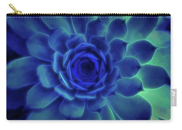 Neon Blue Sempervivum Carry-all Pouch