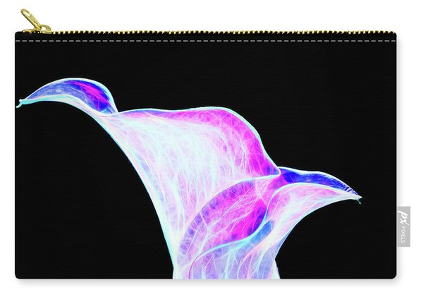 Carry-all Pouch featuring the digital art Neon Calla Lily by Scott Lyons