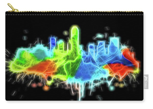 Neon Indianapolis Skyline Carry-all Pouch