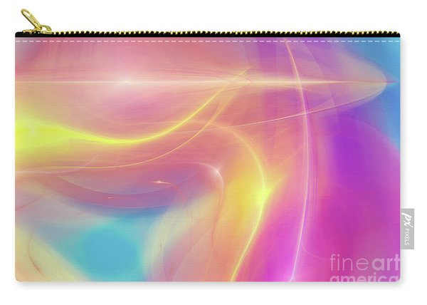 Neon Light  Cosmic Rays Carry-all Pouch