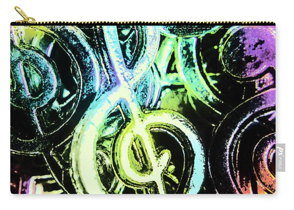 Neon Notes Carry-all Pouch