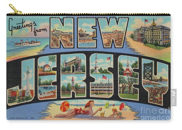 New Jersey Greetings - Version 1 Carry-all Pouch