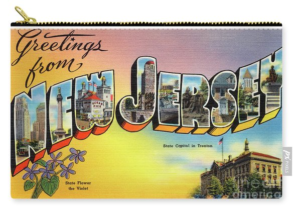 New Jersey Greetings - Version 2 Carry-all Pouch