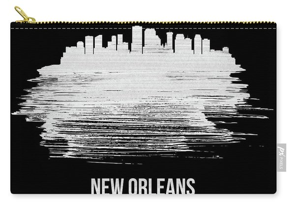 New Orleans Skyline Brush Stroke White Carry-all Pouch
