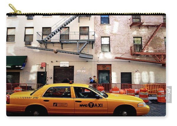 Carry-all Pouch featuring the photograph New York, Cab by Edward Lee