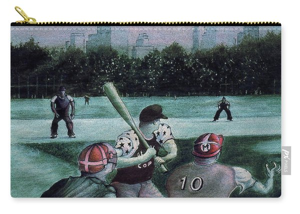 New York Central Park Baseball - Watercolor Art Painting Carry-all Pouch