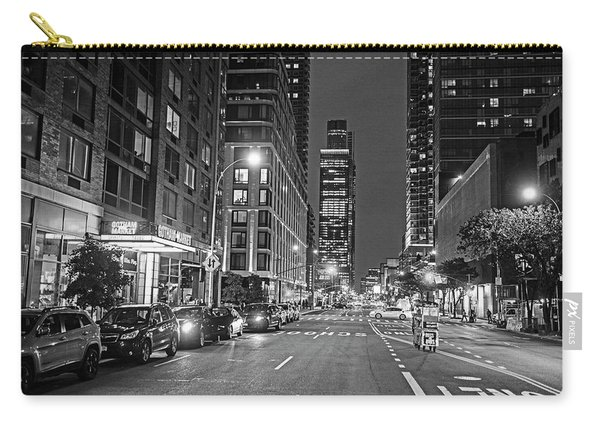 New York City Gotham West Market New York Ny Black And White Carry-all Pouch