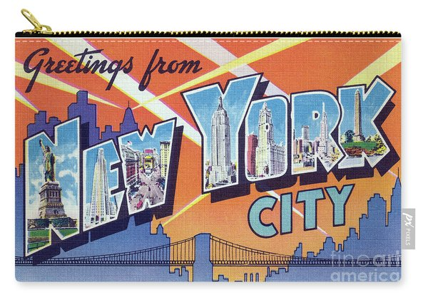 New York City Greetings - Version 2 Carry-all Pouch