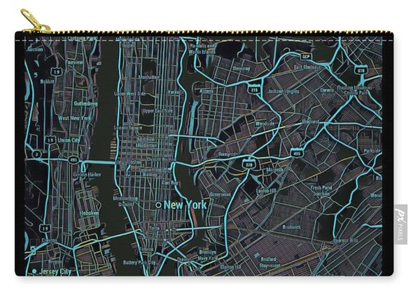 New York City Map Black Edition Carry-all Pouch