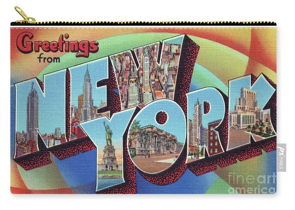New York Greetings - Version 2 Carry-all Pouch