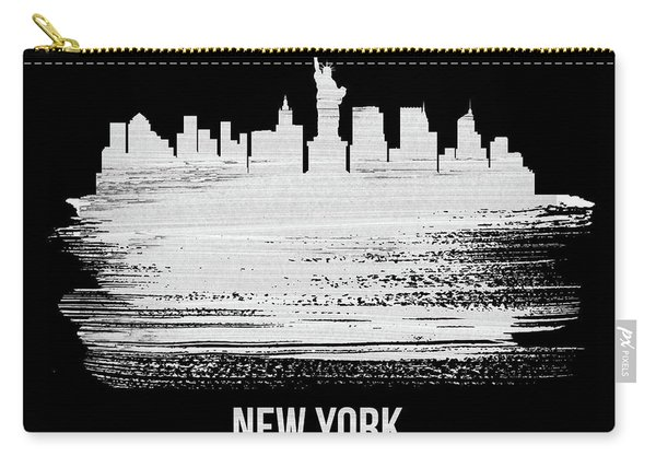 New York Skyline Brush Stroke White Carry-all Pouch