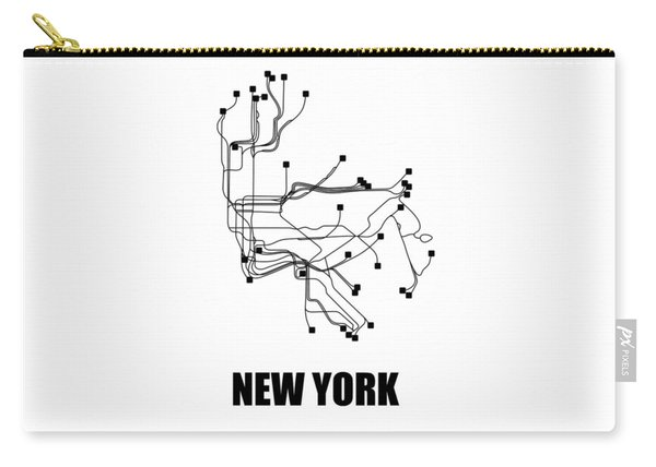 New York Square Subway Map 2 Carry-all Pouch